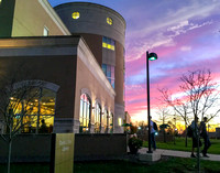 2015 Rice Library sunset 2